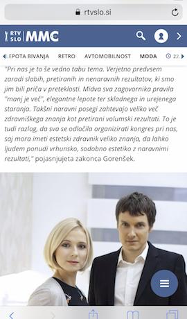 Katja Gorenšek in Samo Gorenšek